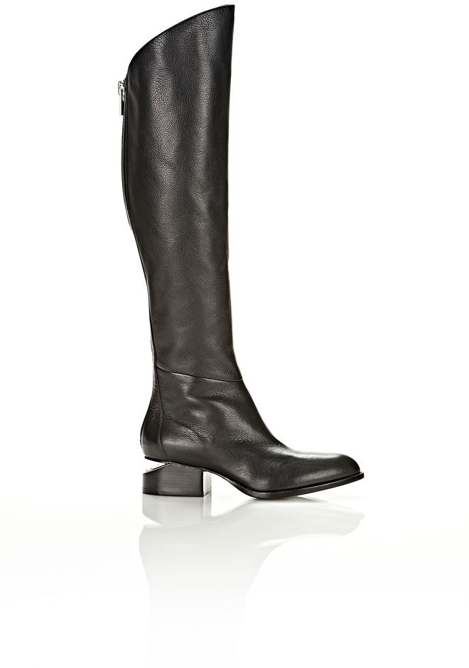 ALEXANDER WANG SIGRID BOOT WITH NICKEL BOOTS Adult 12_n_f