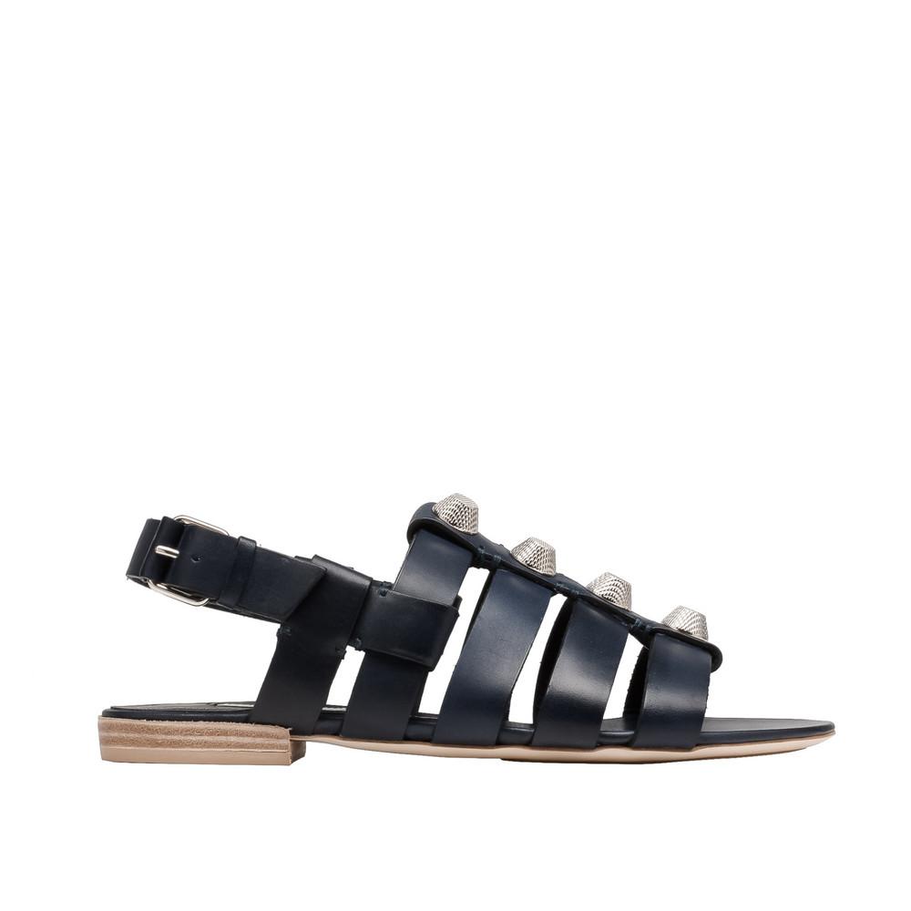 BALENCIAGA Balenciaga Giant Silver Sandals Sandal D f