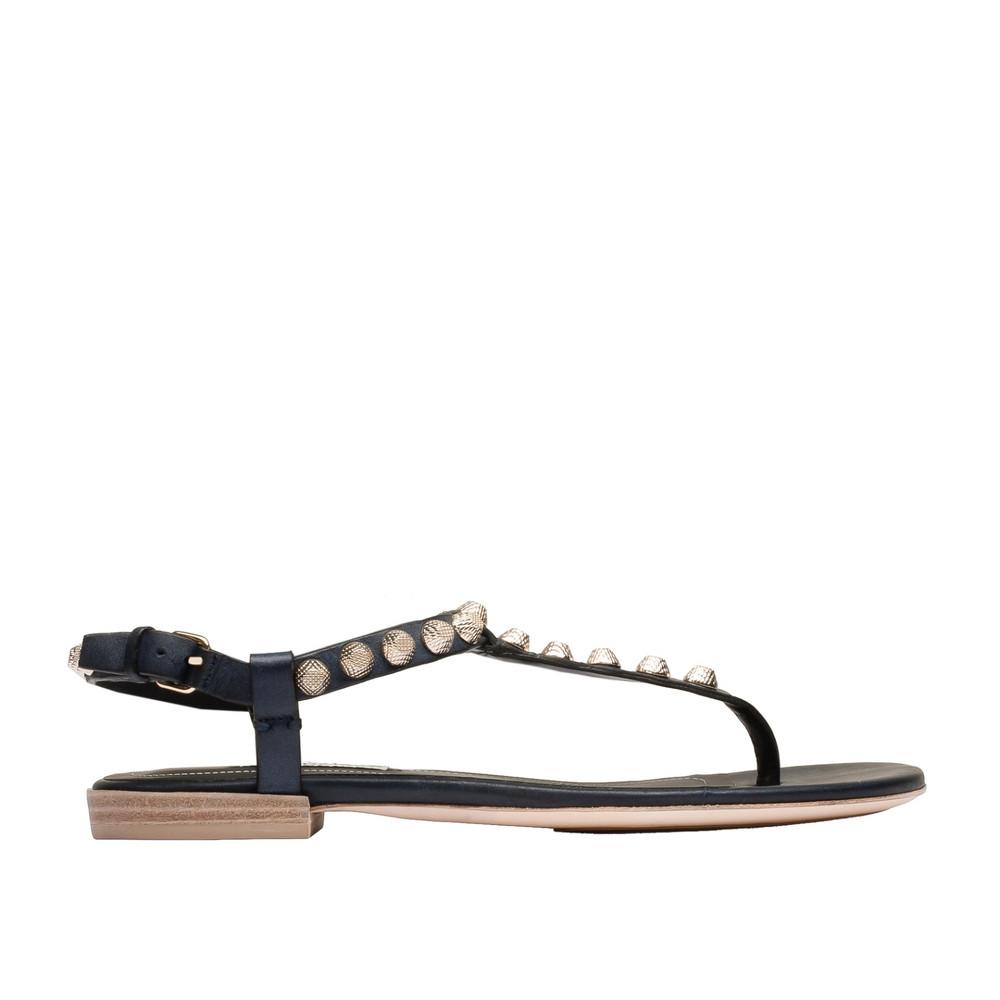 BALENCIAGA Balenciaga Giant Gold T Strap Sandals Arena Shoes D f