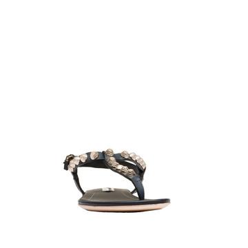 BALENCIAGA Arena Shoes D Balenciaga Giant Gold T Strap Sandals f