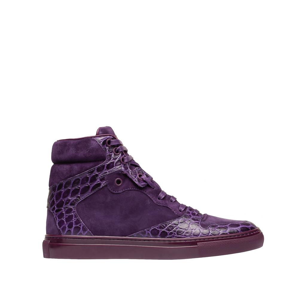 BALENCIAGA Balenciaga Monochrome Alligator Print Sneakers Sneakers D f
