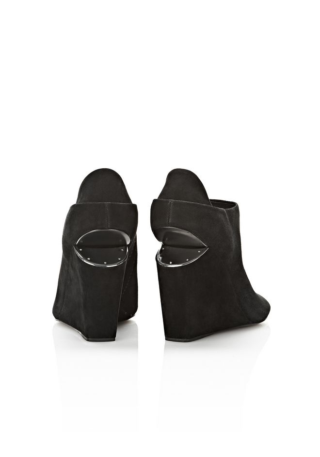 ALEXANDER WANG ALLA SUEDE WEDGE WITH RHODIUM Heels Adult 12_n_e