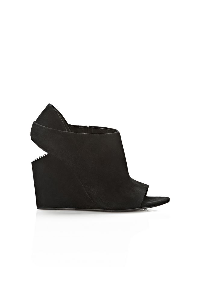 ALEXANDER WANG ALLA SUEDE WEDGE WITH RHODIUM Heels Adult 12_n_f