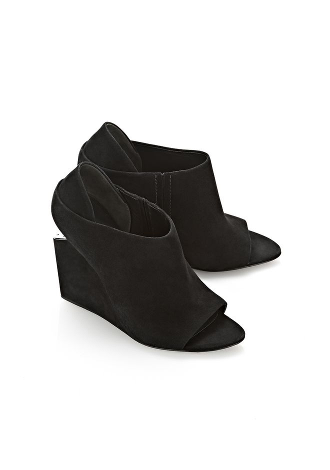 ALEXANDER WANG ALLA SUEDE WEDGE WITH RHODIUM Heels Adult 12_n_r