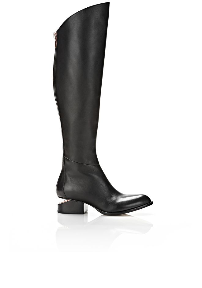 ALEXANDER WANG SIGRID BOOT WITH ROSE GOLD BOOTS Adult 12_n_f