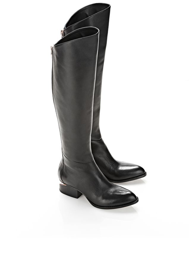 ALEXANDER WANG SIGRID BOOT WITH ROSE GOLD BOOTS Adult 12_n_r