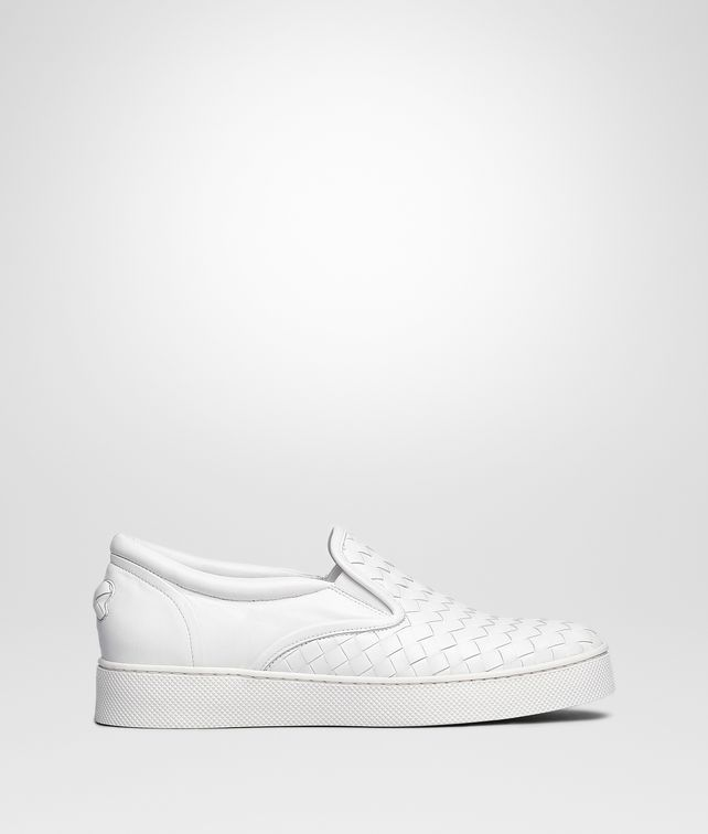 BOTTEGA VENETA DODGER SNEAKER IN BIANCO INTRECCIATO NAPPA Trainers Woman fp