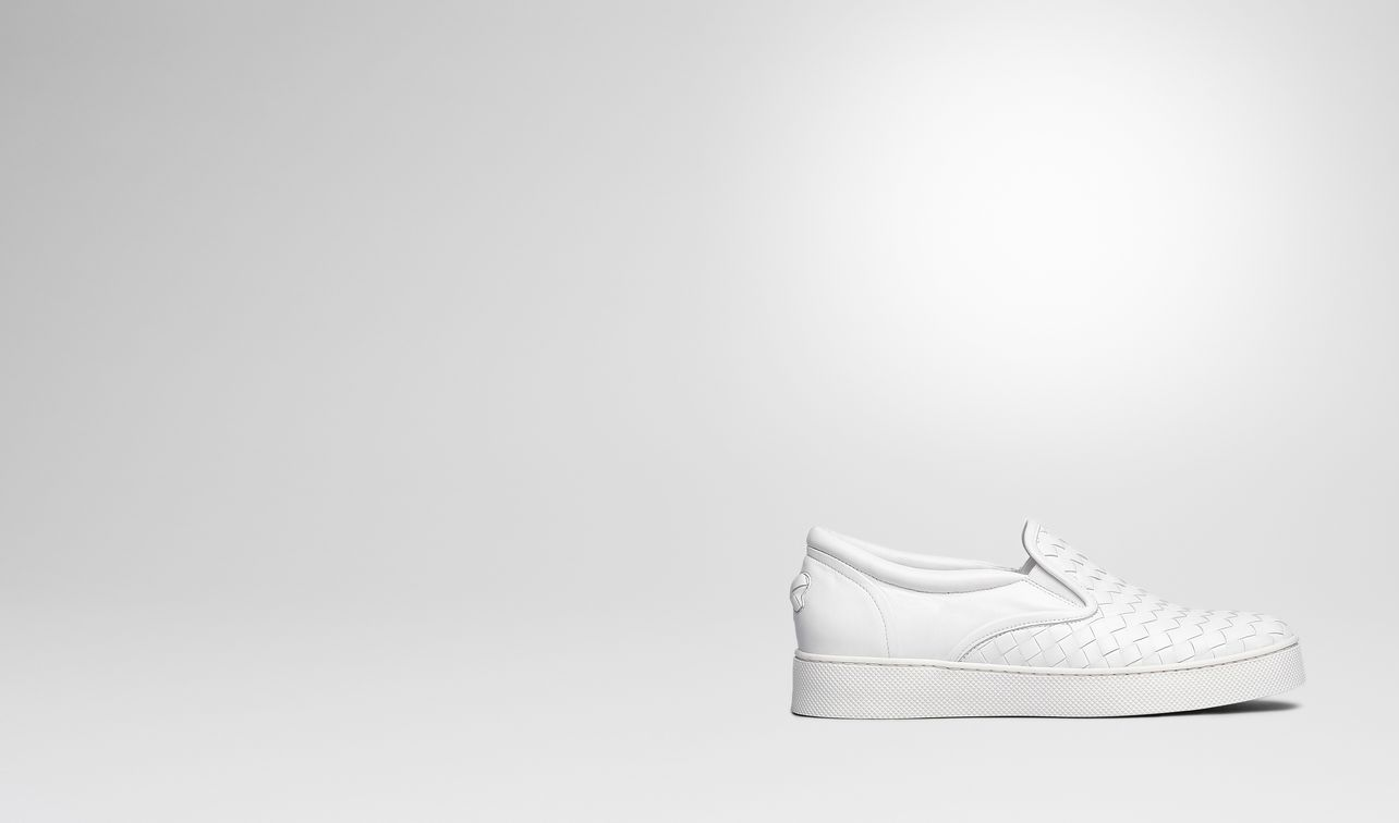 dodger sneaker in bianco intrecciato nappa landing