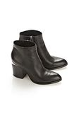 ALEXANDER WANG GABI BOOTIE WITH RHODIUM BOOTS Adult 8_n_r