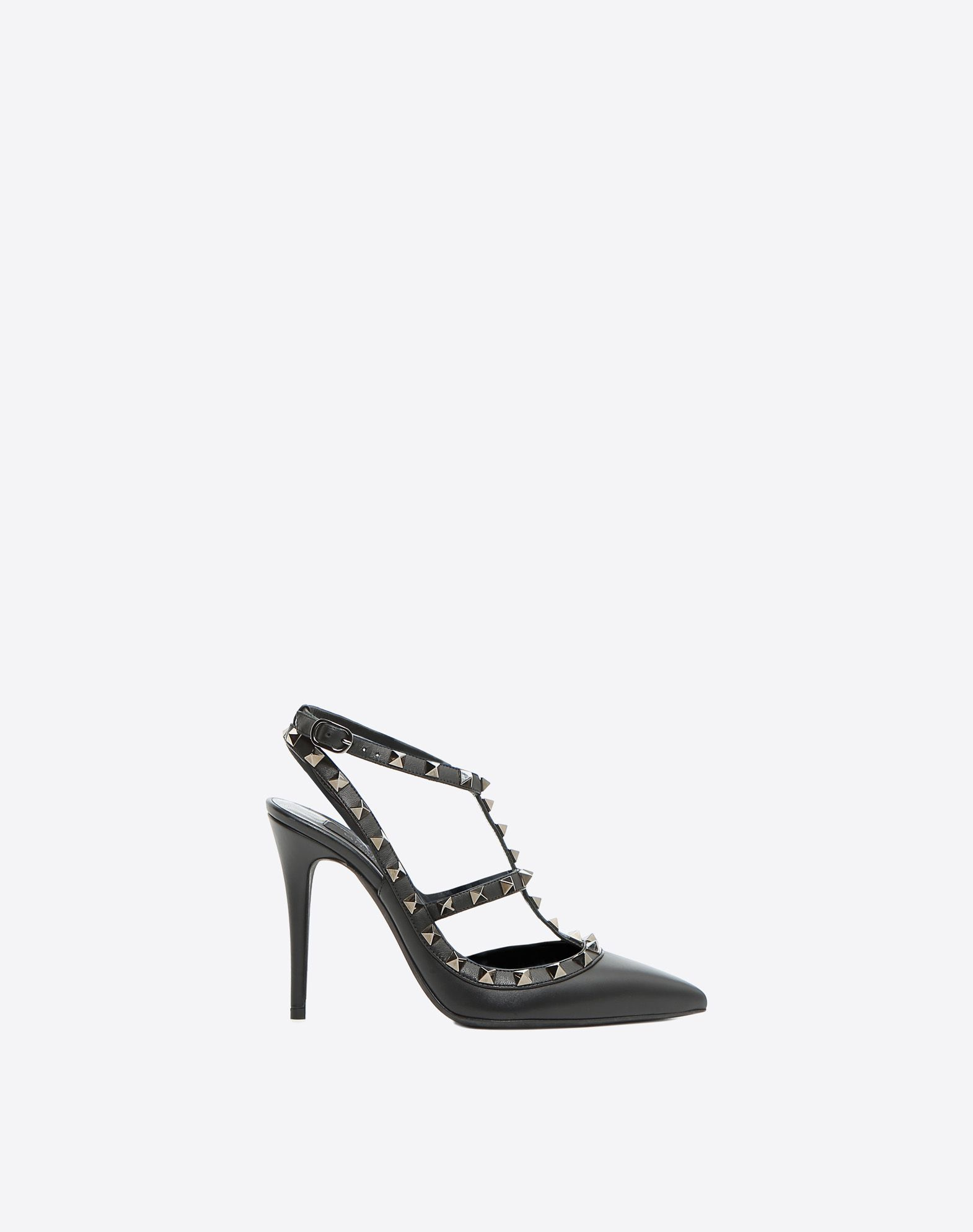 VALENTINO Metal Applications Solid color Buckle Leather sole Narrow toeline  44719273tr