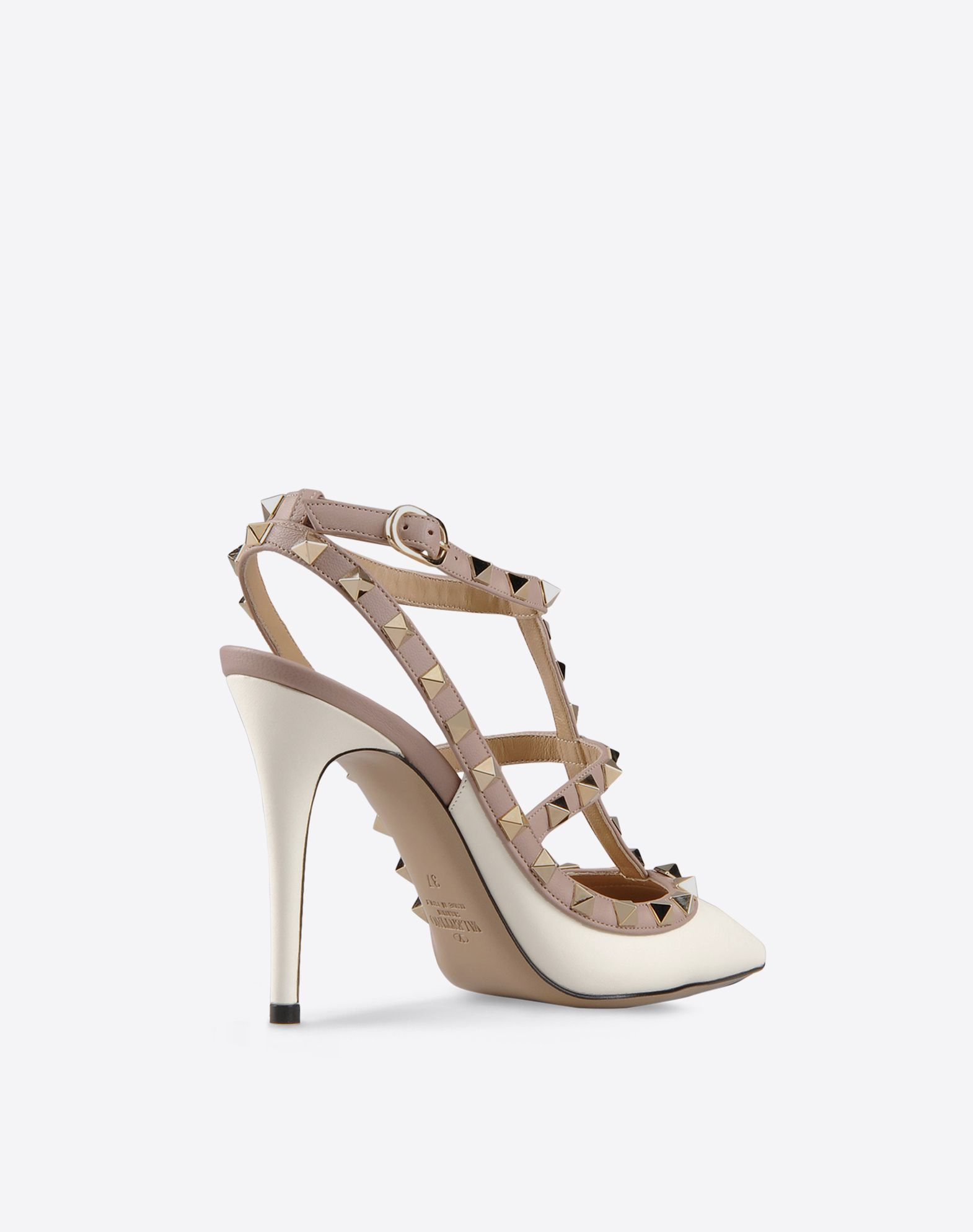 VALENTINO Buckle Two-tone pattern Leather sole Narrow toeline Spike heel  44734513bo
