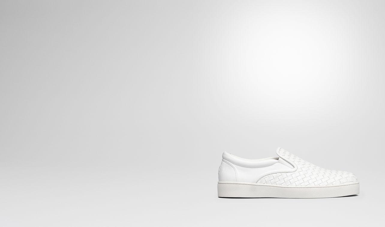 bianco intrecciato nappa sneaker landing