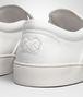 dodger sneaker in bianco intrecciato nappa Front Detail Portrait