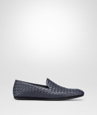 FIANDRA SLIPPER IN DARK NAVY INTRECCIATO CALF