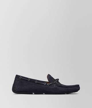WAVE MOCASSINS EN DAIM INTRECCIATO DARK NAVY