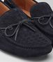 BOTTEGA VENETA WAVE DRIVER IN DARK NAVY INTRECCIATO SUEDE Mocassin or Slipper U ap