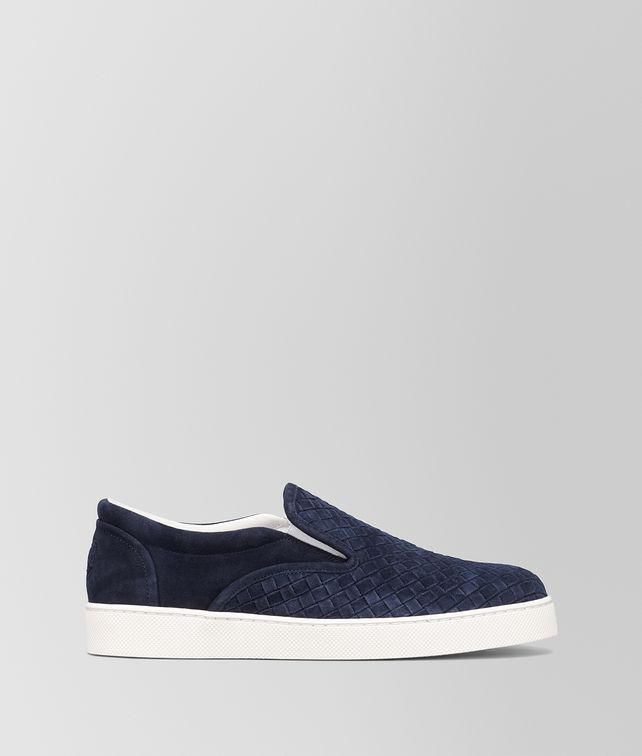 BOTTEGA VENETA DODGER SNEAKER IN DARK NAVY INTRECCIATO SUEDE Sneaker or Sandal U fp