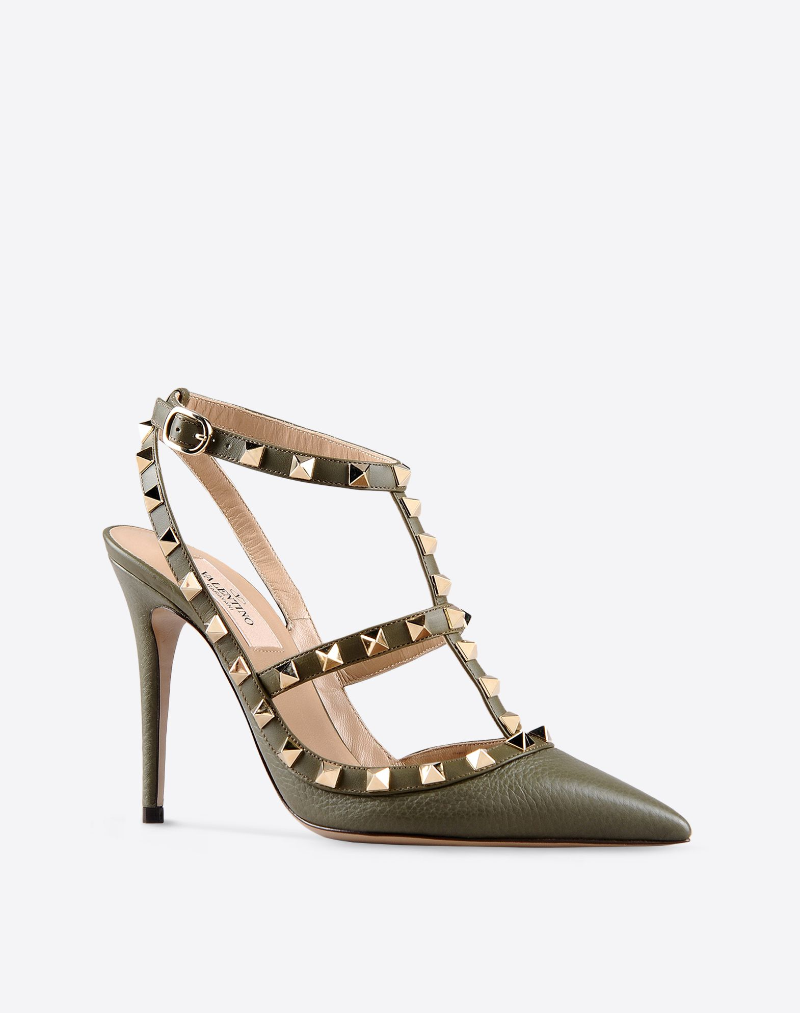 VALENTINO Studs Solid color Leather sole Buckling ankle strap closure Narrow toeline Spike heel  44751660qx