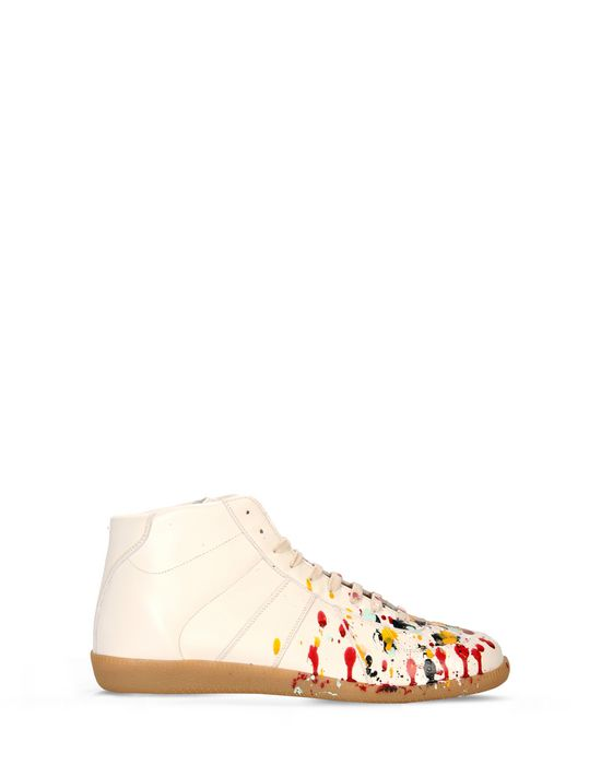 b56d1068d60ba6 MAISON MARGIELA 22 High top  Replica  sneakers with paint splashes Sneakers