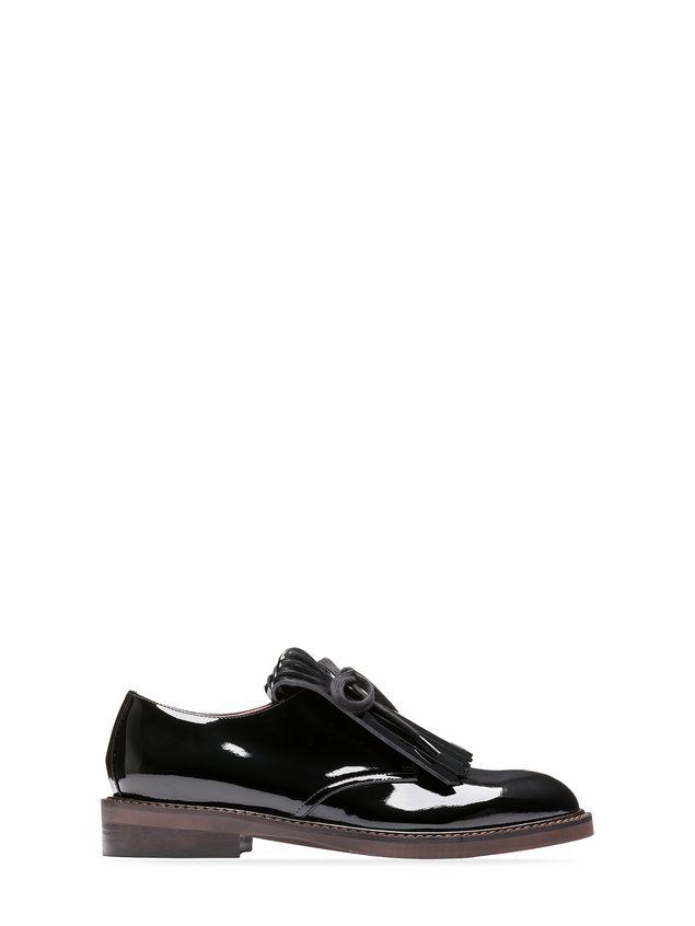 Marni Chaussures à lacets Derby en cuir laminé avec frange Femme - 1 ... d73f115004a2