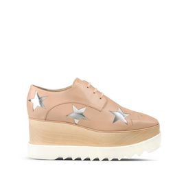 STELLA McCARTNEY Wedges D Elyse Powder Rose Star Shoes f