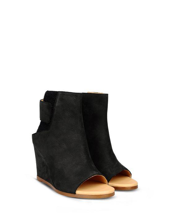 8273ce5188eb MM6 MAISON MARGIELA Nubuck leather wedge sandals Ankle boots       pickupInStoreShipping info