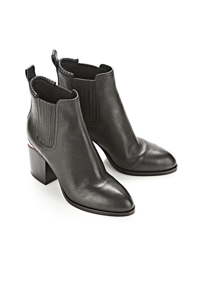 ALEXANDER WANG GABRIELLA  BOOTIE WITH ROSE GOLD  BOOTS Adult 12_n_r