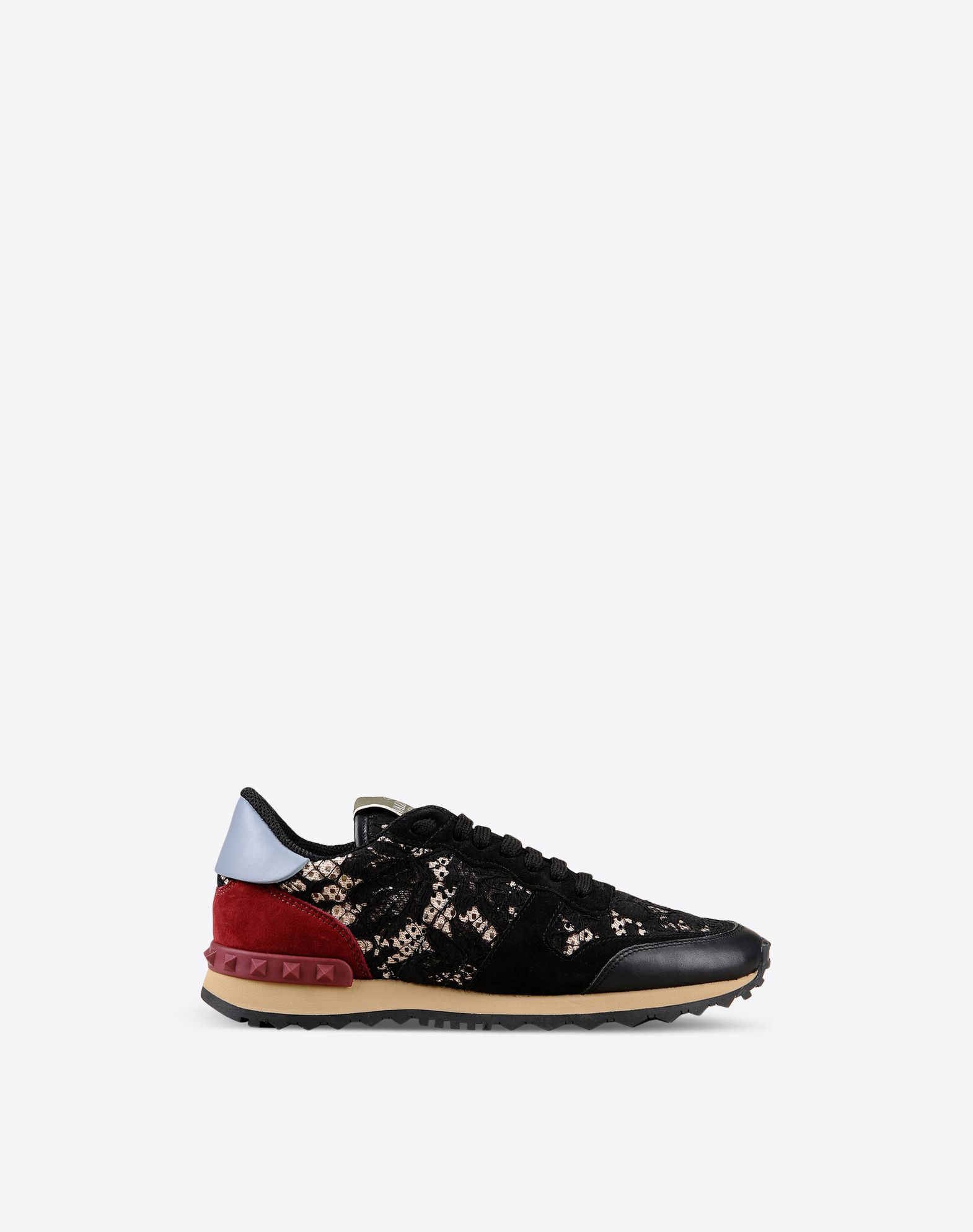 VALENTINO Lace Sueded Laces Rubber sole Round toeline  44816571ph