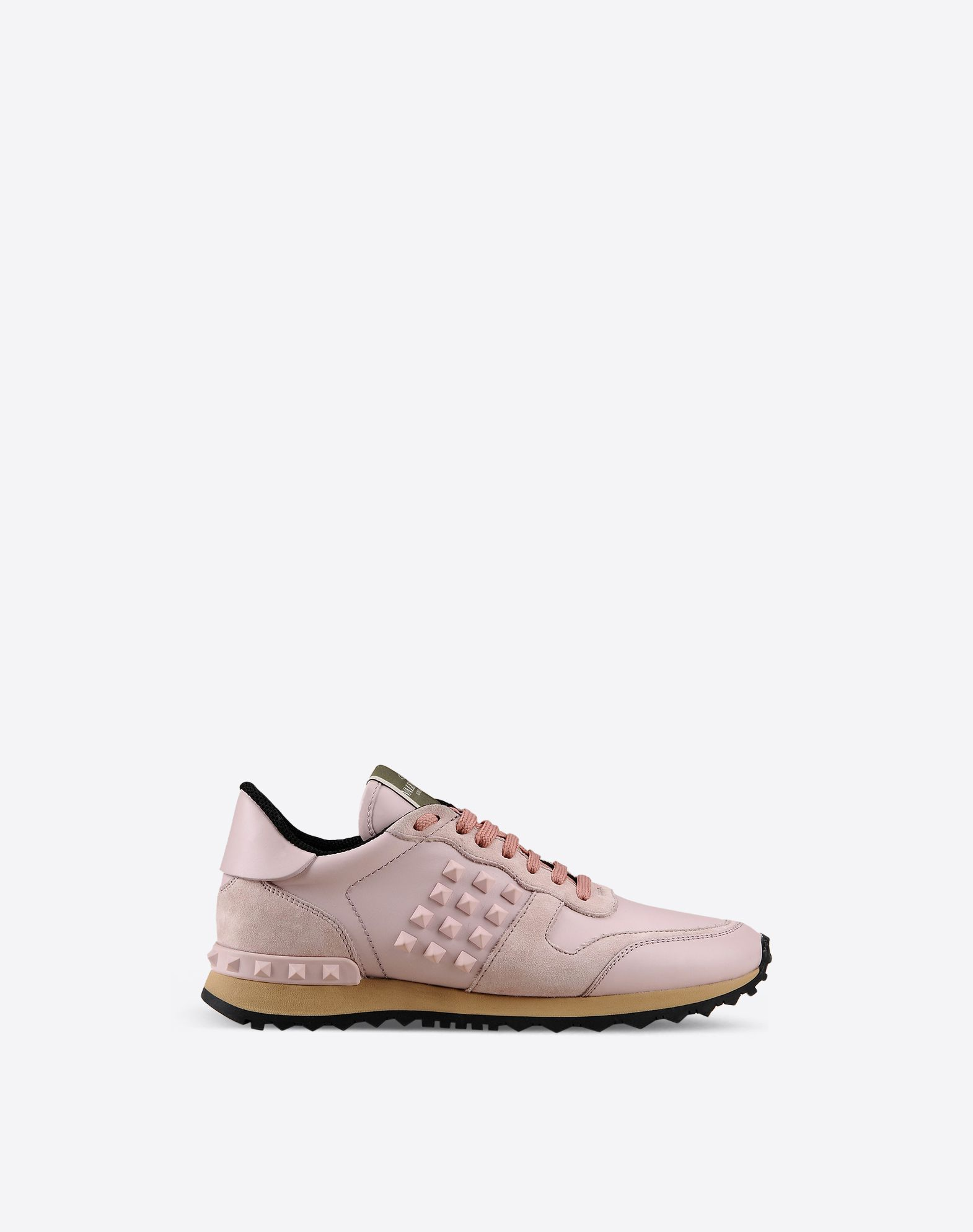 VALENTINO Sueded Logo detail Laces Rubber sole Round toeline  44816588dl