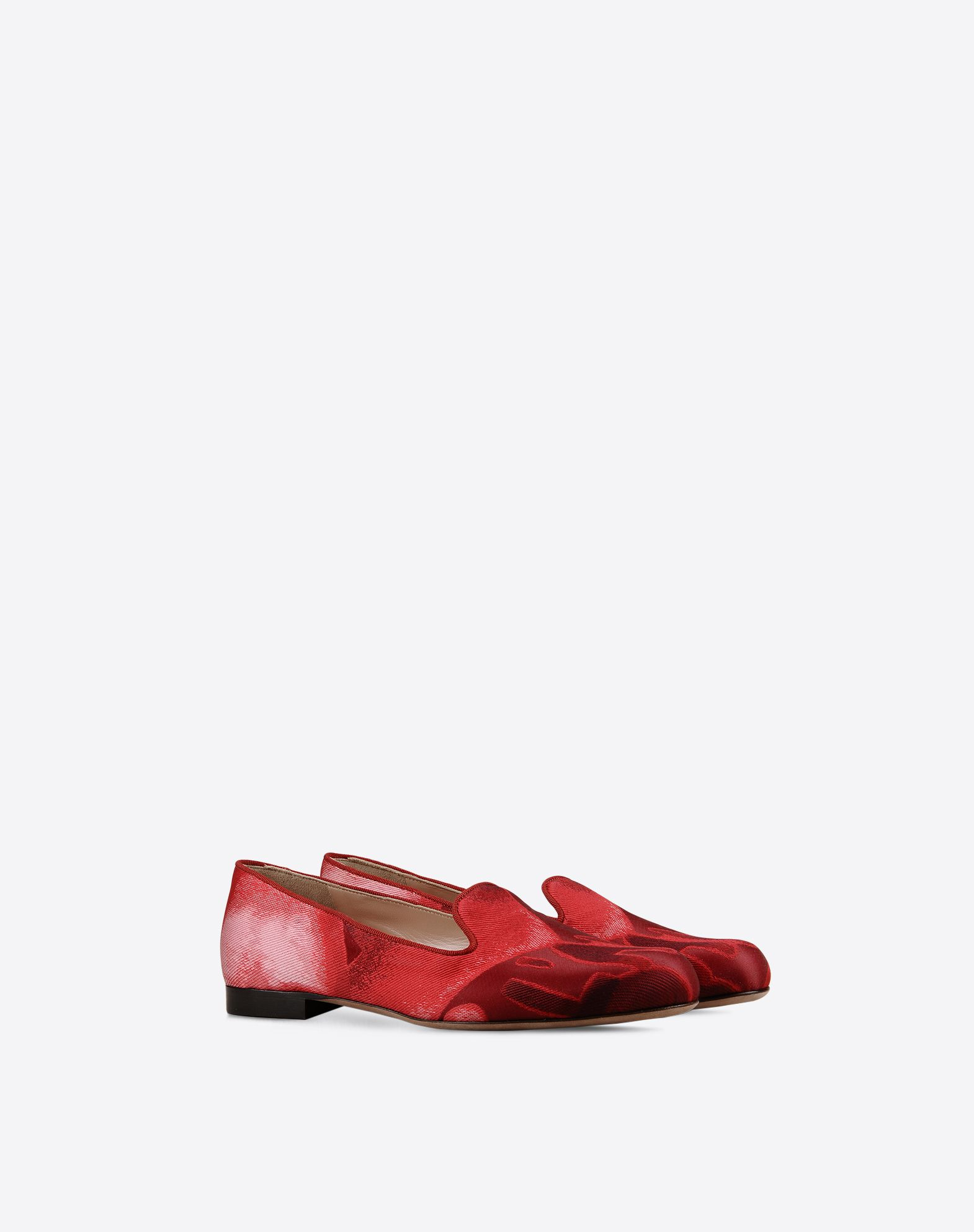 VALENTINO Plain weave Jacquard Leather sole Round toeline Flat heel  44818809lk