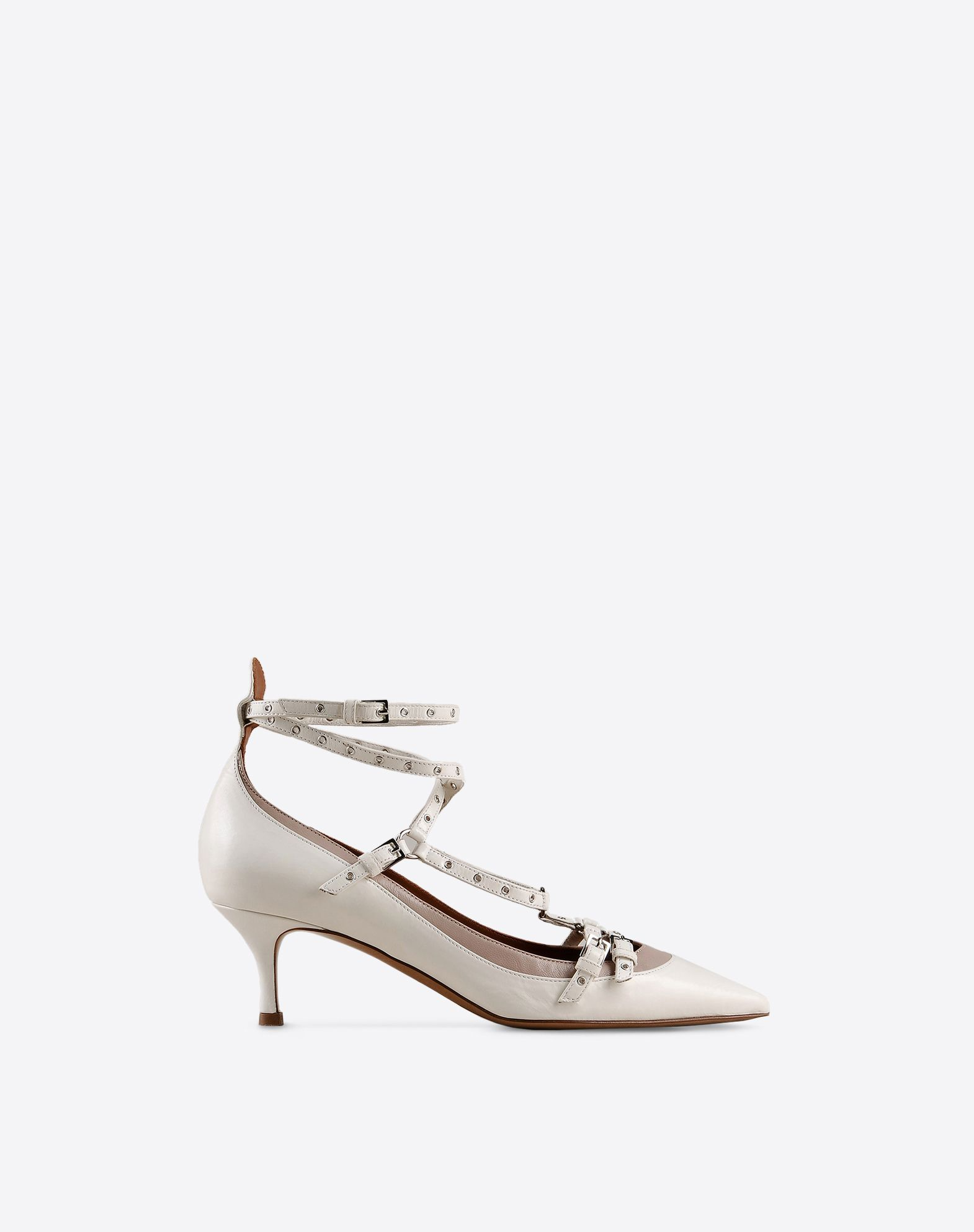 VALENTINO Buckle Leather sole Covered heel  44819285mm