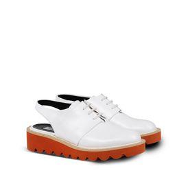 White Odette Slingback Shoes