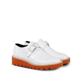White Odette Brogues
