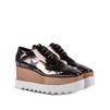 STELLA McCARTNEY Gunmetal Elyse Star Shoes Wedges D r