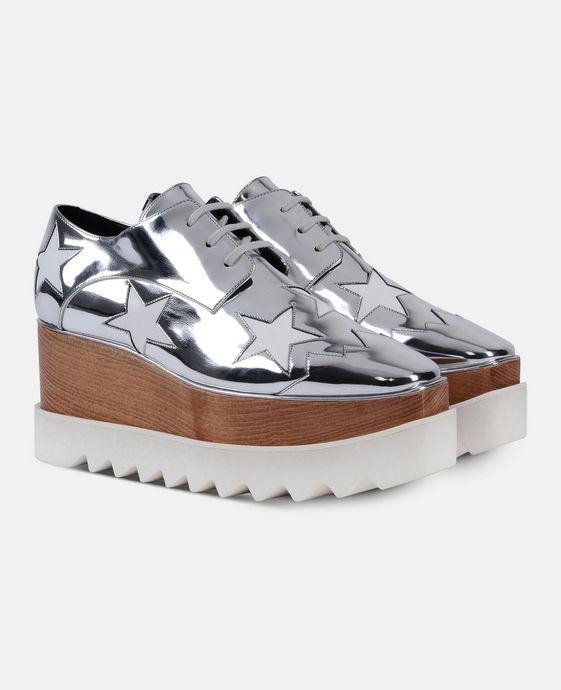 STELLA McCARTNEY Indium Elyse Star Shoes Wedges D h