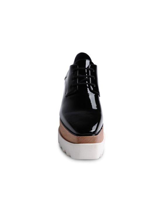 STELLA McCARTNEY Black Patent Elyse Shoes Wedges D g