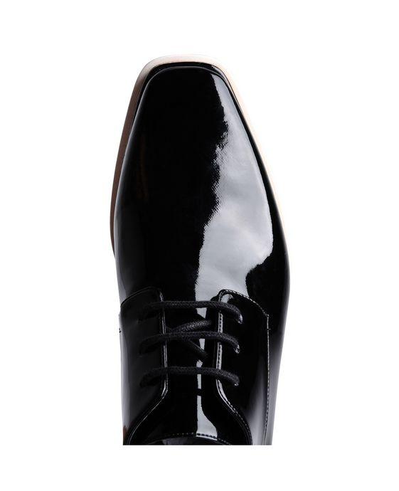 STELLA McCARTNEY Black Patent Elyse Shoes Wedges D p