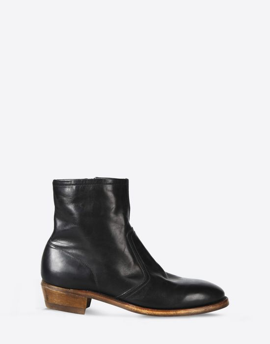 MAISON MARGIELA 22 Leather ankle boots with Cuban heel Ankle boots       pickupInStoreShippingNotGuaranteed info 3b53bb370766