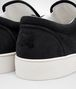 BOTTEGA VENETA DODGER SNEAKER IN NERO INTRECCIATO SUEDE Trainers Man ap