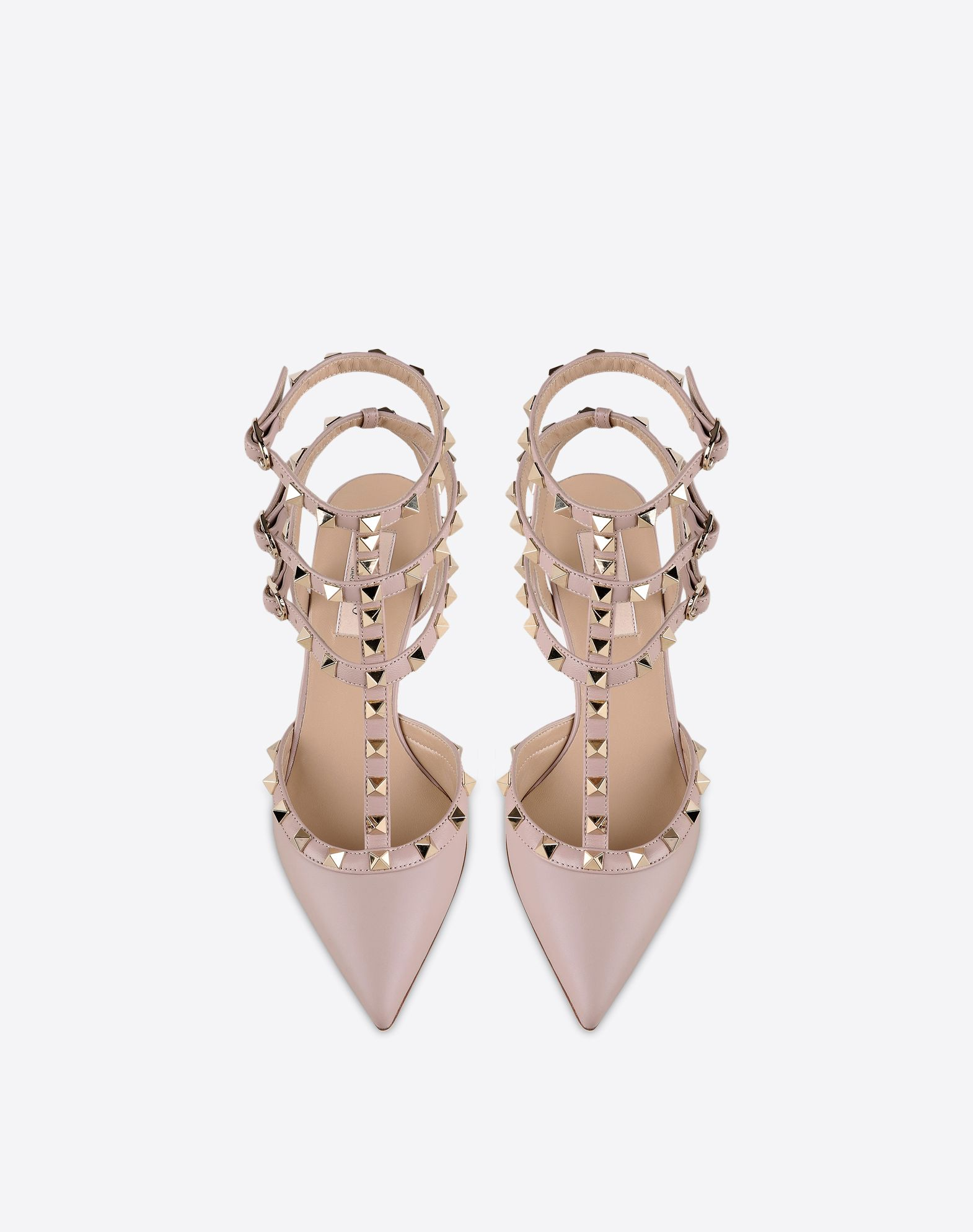 VALENTINO Studs Buckle Leather sole Narrow toeline Spike heel  44842217hh