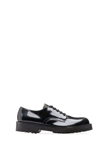 Marni Lace-up in half-shiny calfskin fast-grip rubber sole Man