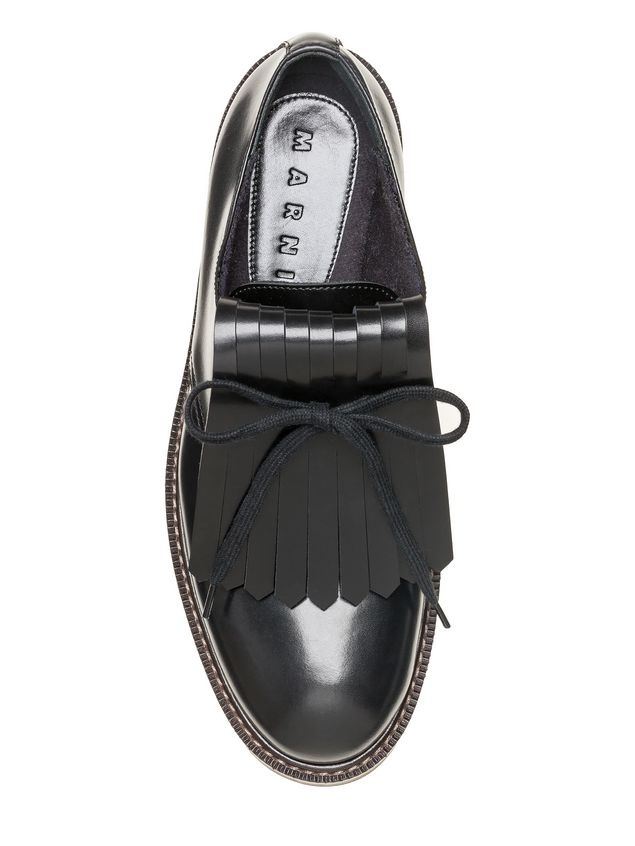 Marni Lace-up in calfskin with contrasting-colored fringes Woman - 4
