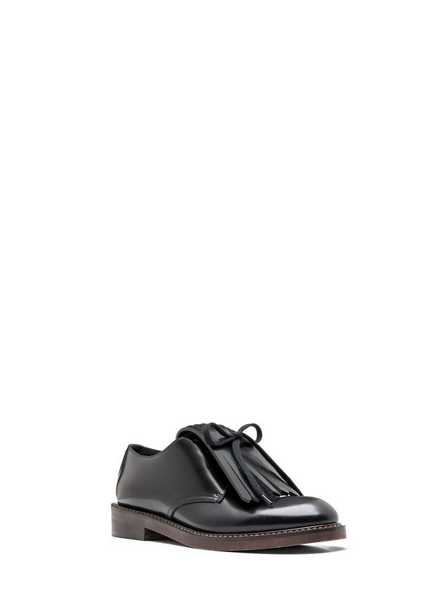 Marni Lace-up in calfskin with contrasting-colored fringes Woman - 2