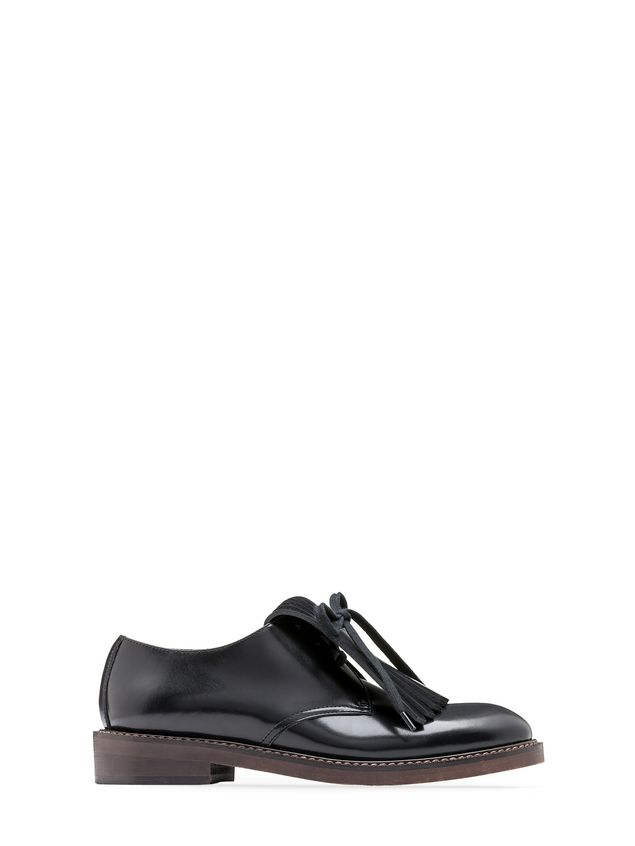 Marni Lace-up in calfskin with contrasting-colored fringes Woman - 1