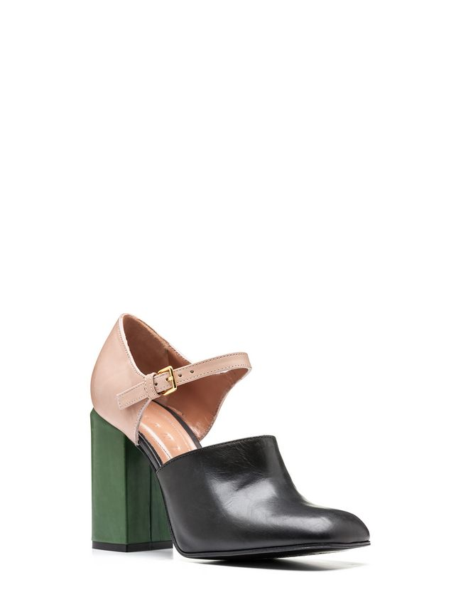 Marni Mary-Jane in tri-colored baby calfskin Woman - 2