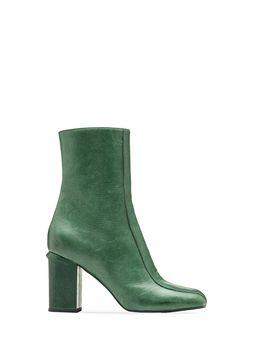 Marni Bootie in shiny deerskin with grooved heel Woman