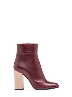 Marni Bootie in baby calfskin with grooved heel Woman