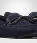 BOTTEGA VENETA WAVE DRIVER IN DARK NAVY INTRECCIATO SUEDE Flat D ap