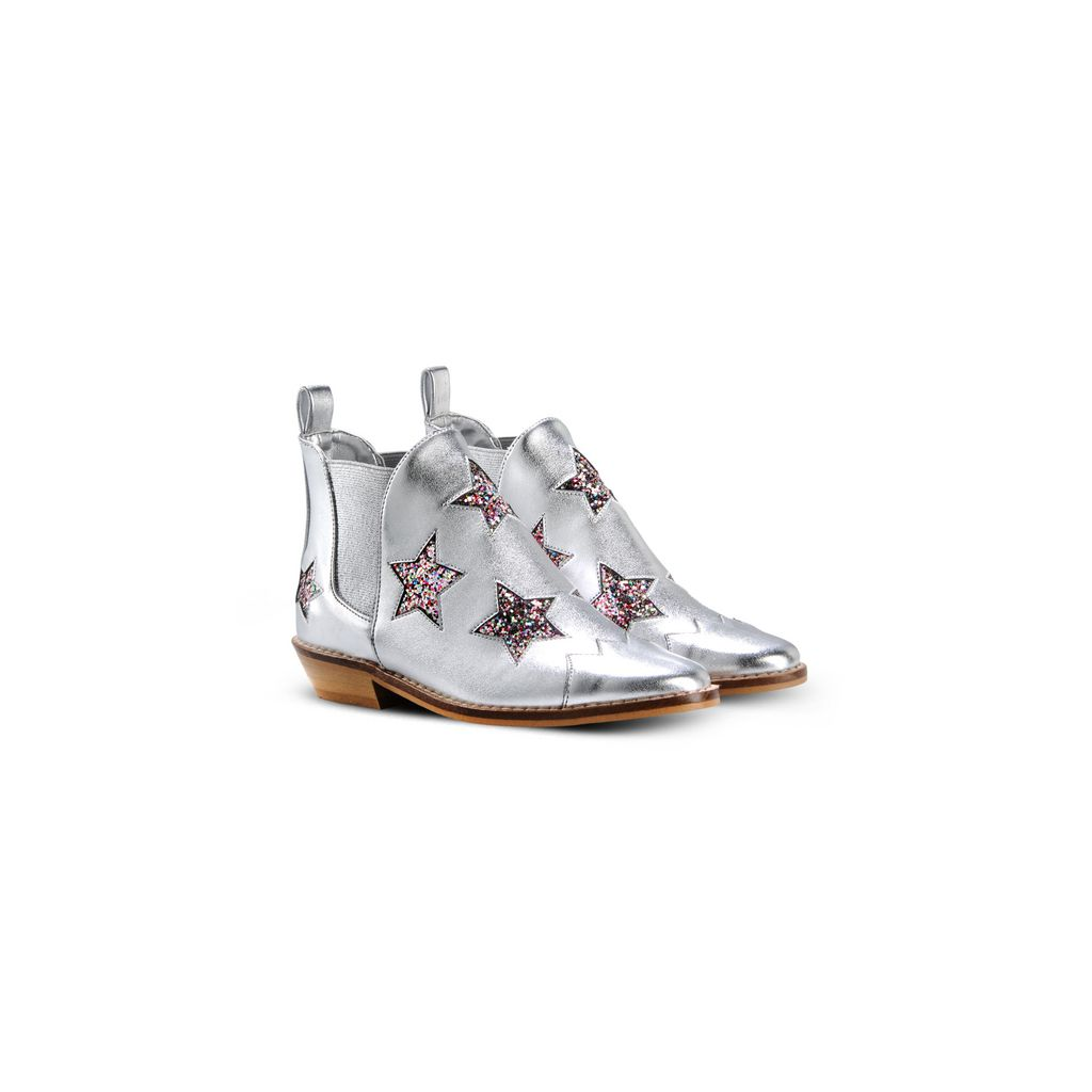 Silver Lily Star Boots (SIZE 24-30) - STELLA MCCARTNEY KIDS
