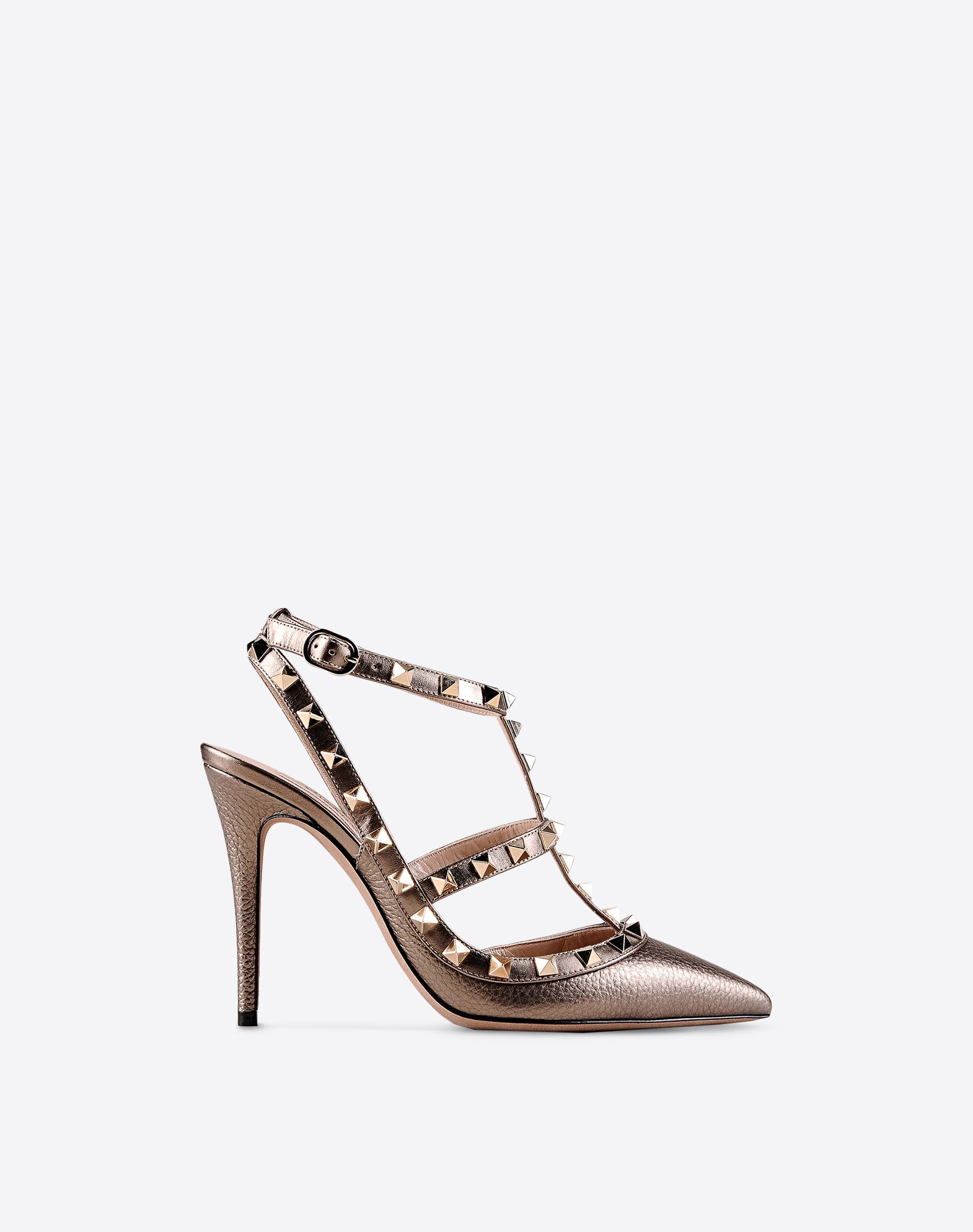 Valentino Metallic Ankle Strap Pumps cost for sale sale low price fee shipping clearance professional qoR9Wrl